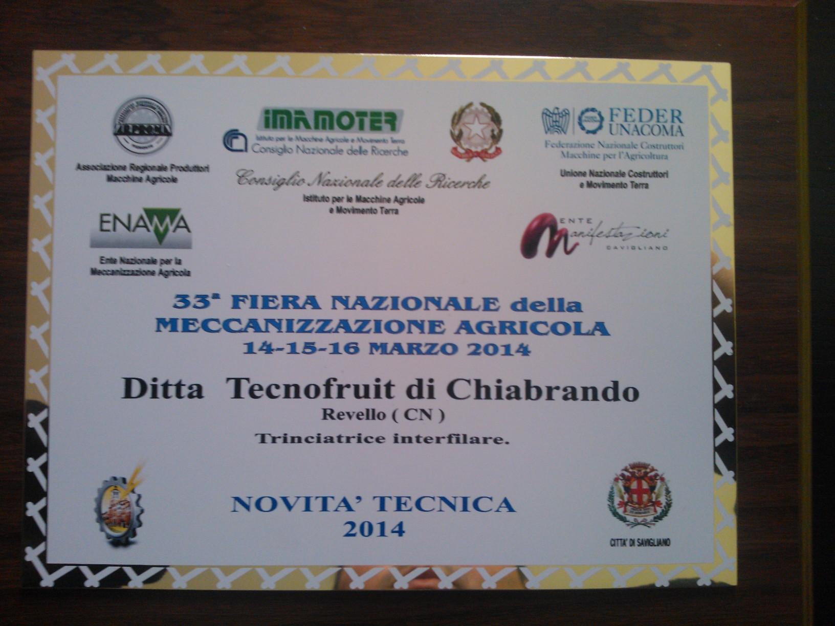 Premiazione Tecnofruit